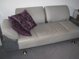 Designer Couch - Unikat aus Leder und Velours
