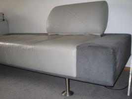 Foto 5 Designer Couch - Unikat aus Leder und Velours
