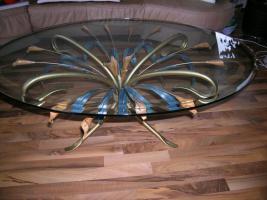 designer couchtisch oval unikat handgearbeitet in kassel glas oval. Black Bedroom Furniture Sets. Home Design Ideas