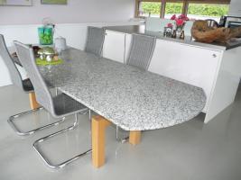 designer esstisch in battenberg ausziehbar granit