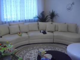 designer rundsofa echtleder in offenburg beige leder. Black Bedroom Furniture Sets. Home Design Ideas