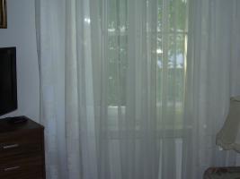 Designer Schlafzimmergardine mit Übergardine