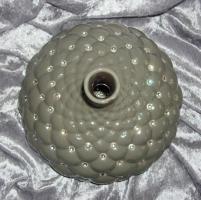 Foto 2 Designervase aus Porzellan mir Kristallen besetzt