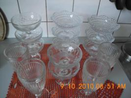 Dessertschalen aus Glas