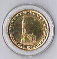 Deutschland 2 Euro Gedenkmünze '' 2008 '' '' Vergoldet '' ! !