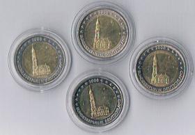 Deutschland 2 Euro Gedenkmünzen '' 2008 '' Hamburg !!