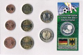 Deutschland Euro Kursmünzensatz zur Fußball '' WM 2006 '' !