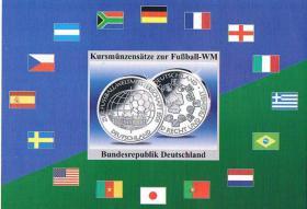 Foto 3 Deutschland Euro Kursmünzensatz zur Fußball '' WM 2006 '' !