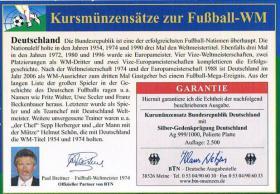 Foto 4 Deutschland Euro Kursmünzensatz zur Fußball '' WM 2006 '' !