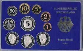 Deutschland Umlaufmünzsatz DM in polierter Platte ! !