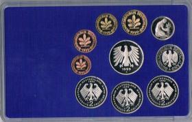 Foto 2 Deutschland Umlaufmünzsatz DM in polierter Platte ! !