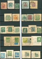 Foto 2 Deutschland verschiedene Postkartenausschnitte mit Eingedruckter Marke, wie auf Bilder zu sehen ohne Steckkarten.