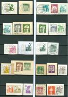 Foto 3 Deutschland verschiedene Postkartenausschnitte mit Eingedruckter Marke, wie auf Bilder zu sehen ohne Steckkarten.