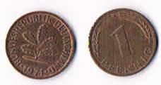 Deutschland '' 1 PF 1971 G & 1981 F '' !!