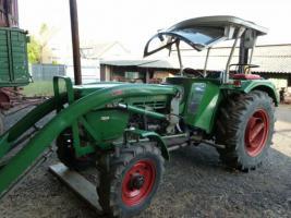 deutz 5506 allrad traktor schlepper mit frontlader und 2. Black Bedroom Furniture Sets. Home Design Ideas