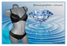 Diamantenfieber BH Set schwarz