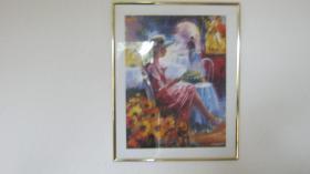 Die Lesende von S.Rochelle Kunst Dekoration Druck Grafik Kunst