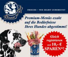 Dinner for Dogs - 10 Euro Rabatt - www.gutscheinmarkt.de.to