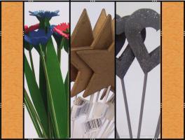 Diverse Stecker � (Herzen, Sterne,  Blumen)