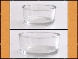 Foto 3 Diverse Teelichthalter, Kerzenständer aus Glas, (matt, klar, blau)