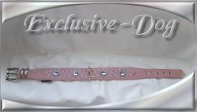 Foto 3 Dobermann Bulldogge Hundehalsband Lederhalsband Strasshalsband mit SWAROVSKI ELEMENTS by EXCLUSIVE-DOG