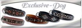 Foto 5 Dobermann Bulldogge Hundehalsband Lederhalsband Strasshalsband mit SWAROVSKI ELEMENTS by EXCLUSIVE-DOG