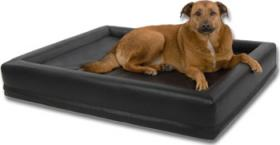 DoggyBed Hundewasserbett Aqua Style Plus mit Heizung Kunstleder 132x112x20cm schwarz