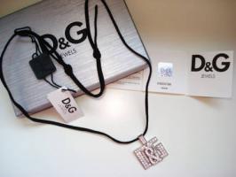 Dolce&Gabbana * ** Edelstahlkette mit Swarovski Steine neu
