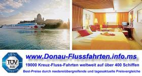 Donau-Fluss-Fahrt Passau-Budapest ab € 449 Vollpension