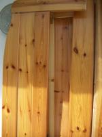 Doppelbett 190 X 200 Holz lackiert ohne Lattenroste und Matratzen