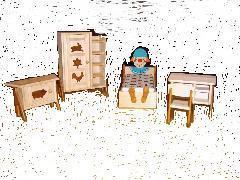 Dora Kuhn, Kinderzimmer, 1:10, für die Puppenstube,