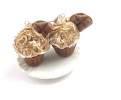 ' Double Chocolate ' Törtchen Ohrringe