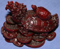 Drachenschildkröte aus Kunstharz 8,5 x 6 cm - NEU!