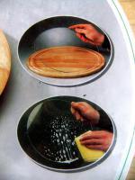 Foto 3 Drehteller, Drehplatte, Servierplatte aus Holz, kugelgelagert, mit Glasplatte
