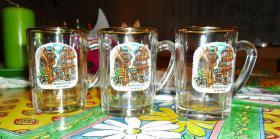 Drei dekorative Wein-Probiergläser aus Bernkastel Kues