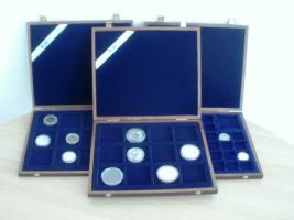 Drei hochwertige Münzenkassetten