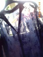 Dunkelblaue Netzbluse, sehr schöne Verarbeitung