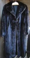 Foto 2 Dunkelbrauner Nerzmantel - Größe 38/40 zu verkaufen