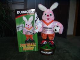 Duracell Hase Football Bunny und Trommel Hase, beide unbespielt