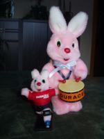 Foto 2 Duracell Hase Football Bunny und Trommel Hase, beide unbespielt