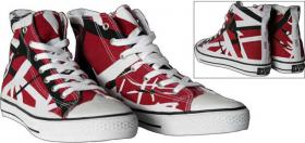 EDDIE VAN HALEN Red High Sneaker, neu aus USA, kultig