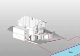 ERSTBEZUG 1,5-Zi.-Einliegerwohnung mit Terrasse, Garten, Innehof NEUBAU 2013