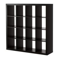expedit regal ikea schwarz braun raumteiler in wien furniert zweiseitig nutzbar. Black Bedroom Furniture Sets. Home Design Ideas