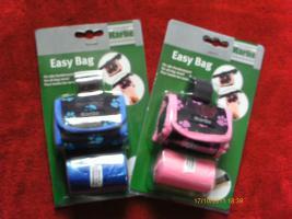 Easy Bag Kotbeutel Kottasche Hundeleine von Karlie mit 40 XL Beutel Nagelneu blau / schwarz oder pink / schwarz