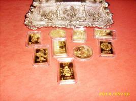 Foto 2 Echtgold vergoldete Barren & Münzen...