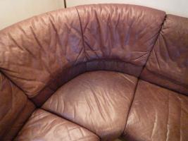 Foto 4 Echtledergarnitur (Wasserbüffel) mit Sessel