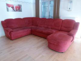 Eck - Sofa, Farbe Rot, U - Form = wie Neu !!!