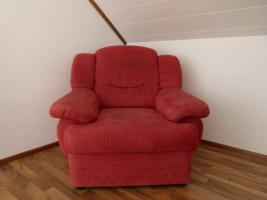 Foto 2 Eck - Sofa, Farbe Rot, U - Form = wie Neu !!!