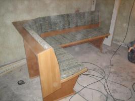 Eckbank mit Tisch Handarbeit Massivholz