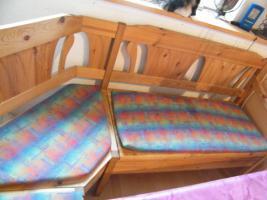Foto 5 Eckbank massiv buche mit 2 Sitzflächen zum aufklappen